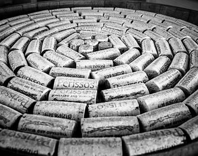 Photograph - Perissos Vineyard Wine Corks by Andy Crawford