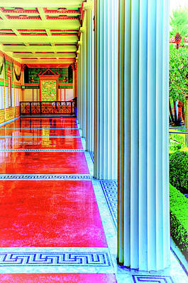 Photograph - Peristyle View by Joseph Hollingsworth