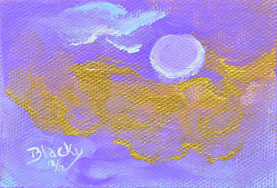 Painting - Periwinkle Moon by Donna Blackhall