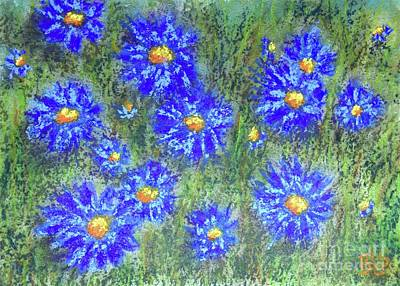 Painting - Periwinkle Patch by Barrie Stark