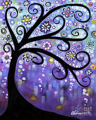 Painting - Periwinkle Tree by Elena Feliciano