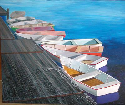 Nubble Painting - Perkins Cove by Dillard Adams