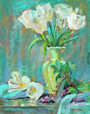 Painting - Perky Blue by Marie Massey