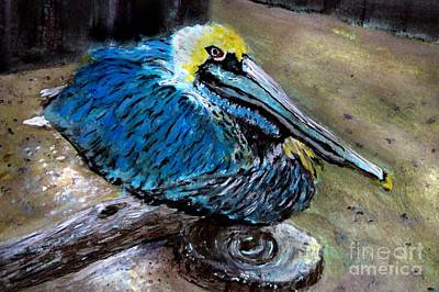 Painting - Perky Pelican by Anne Sands