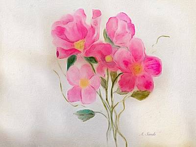 Painting - Perky Pink by Anne Sands