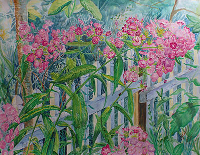Painting - Perky Pink Phlox In A Dahlonega Garden by Nicole Angell