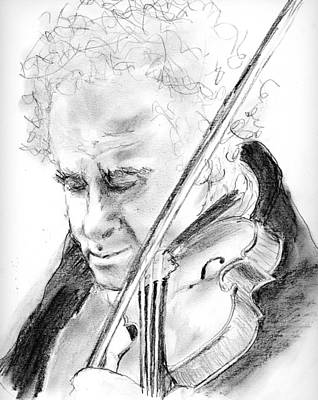 Drawing - Perlman by Marilyn Barton