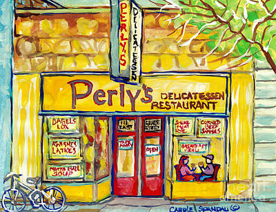 Painting - Perly's Delicatessen Richmond Va Restaurant Painting Jewish Diners American Art C Spandau            by Carole Spandau
