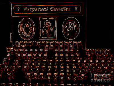 Digital Art - Perpetual Candles by Ed Weidman