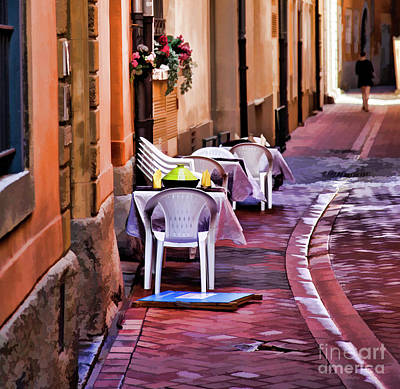 Photograph - Perpignan France Paint Cafe  by Chuck Kuhn