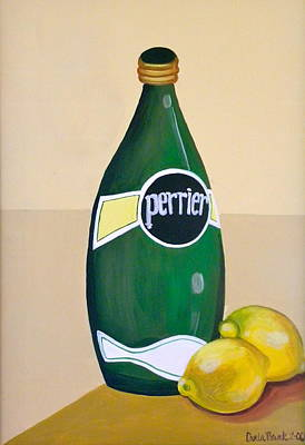 Painting - Perrier And Lemon by Carla Bank