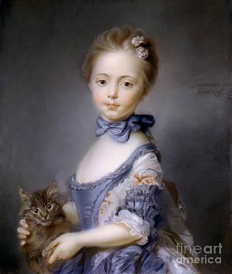 Photograph - Perronneau: Girl, 1745 by Granger