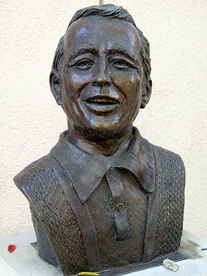 Photograph - Perry Como Bust by Jeff Lowe