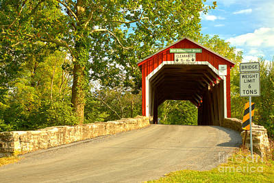 Photograph - Perry County New Germantown Covered Bridge by Adam Jewell