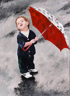 Painting - Perry In The Rain by Denise H Cooperman