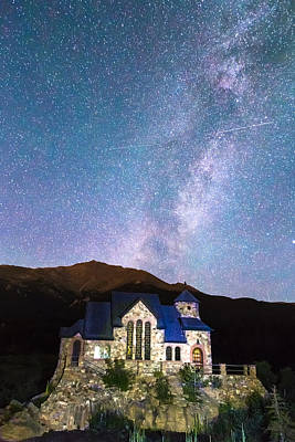 Perseid Photograph - Perseid Meteor Shower And Chapel On The Rock by James BO  Insogna