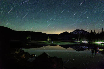 Photograph - Perseids At Sparks Lake by Cat Connor
