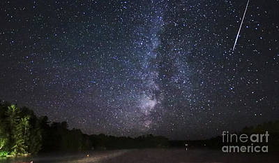 Photograph - Perseids Meteor Shower Over Cottage Country by Charline Xia