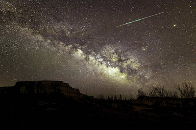 Photograph - Perseids Milky Way by Scott Cordell