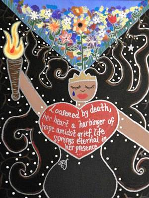 Greek Icon Painting - Persephone by Angela Yarber