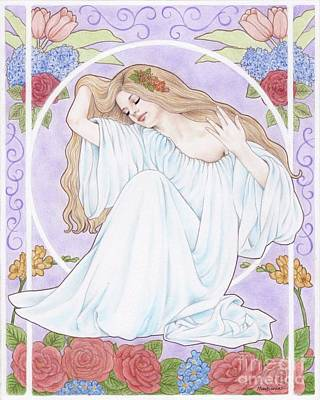 Drawing - Persephone by Mayumi Ogihara