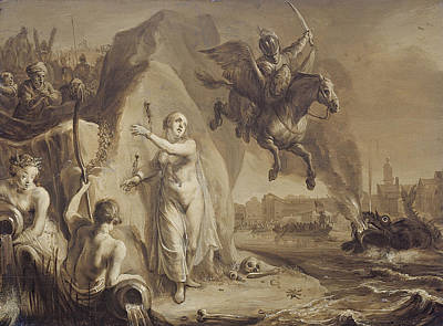 Liberation Painting - Perseus And Andromeda. Allegory Of The Liberation Of The Netherlands By Prince Frederik Hendrik by Attributed to Pieter Symonsz Potter