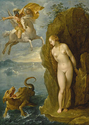 Painting - Perseus And Andromeda by Bernardino Cesari