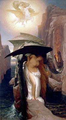 Painting - Perseus And Andromeda by Frederic Lord Leighton