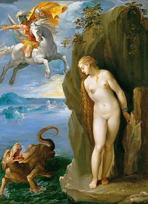 Perseus And Andromeda Art Print by Giuseppe Cesari