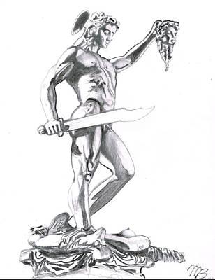 Perseus Of Benvenuto Cellini Art Print by Massimiliano Benvenuti
