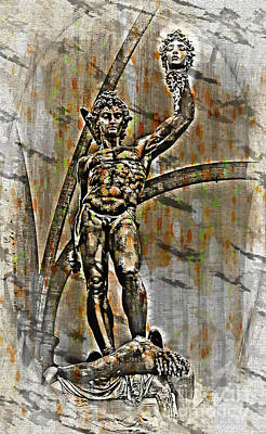 Photograph - Perseus With The Head Of Medusa, Florence, Italy by Al Bourassa