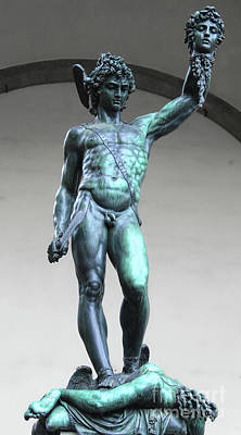 Photograph - Perseus With The Head Of Medusa In Florence Italy by Gregory Dyer
