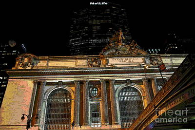 Photograph - Abstract - Pershing Square At Grand Central by Jacqueline M Lewis