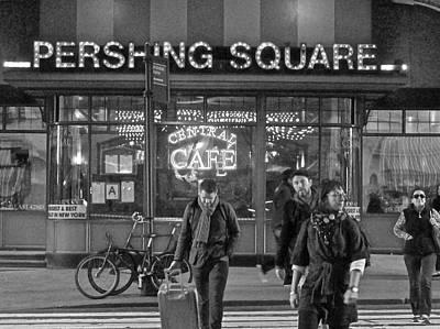 Photograph - Pershing Square Monochrome by Steven Lapkin