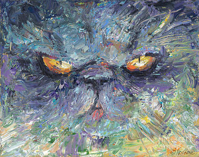 Persian Cat Wall Art - Painting - Persian Cat 2 by Svetlana Novikova