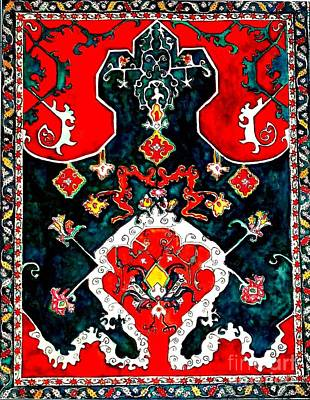 Tapestries - Textiles Painting - Persian Influence by Norma Boeckler