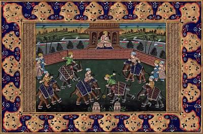 Persian Miniature Painting - Persian Miniature Painting Illuminated Manuscript Indo Islamic Calligraphy Art by ArtnIndia