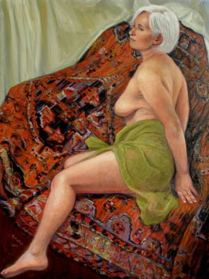 Persian Rug 3 Art Print by Donelli  DiMaria