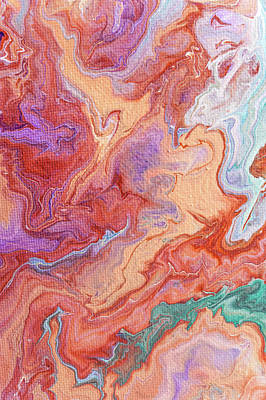 Photograph - Persian Spring Fragment. Fluid Acrylic Painting by Jenny Rainbow