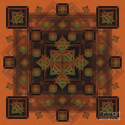 Digital Art - Persian Textile 2015 by Kathryn Strick