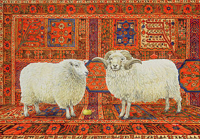 Persian Carpet Painting - Persian Wool by Ditz