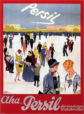 Mixed Media - Persil - Detergent - Vintage Advertising Poster by Studio Grafiikka
