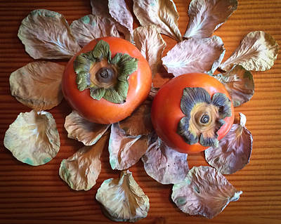 Photograph - Persimmons 6 by Ronda Broatch