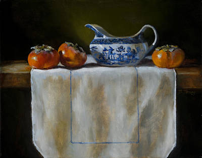 Painting - Persimmons by Barbara Jones