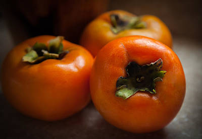 Passion Fruit Photograph - Persimmons by Karen Wiles