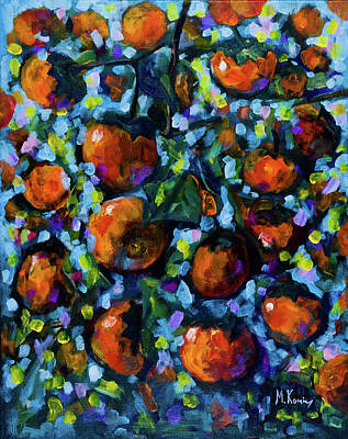 Painting - Persimmons by Maxim Komissarchik