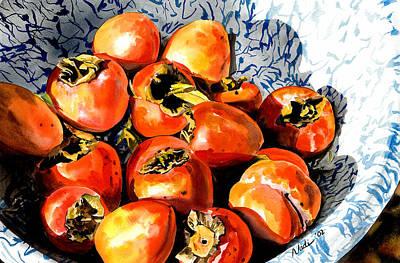 Persimmons Art Print by Nadi Spencer