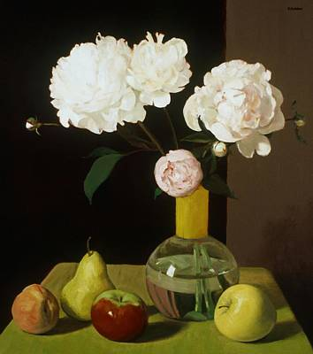 Painting - Persistence Of Peonies No. 4 by Robert Holden