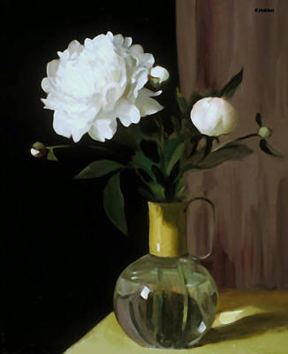 Painting - Persistence Of Peonies No.1 by Robert Holden