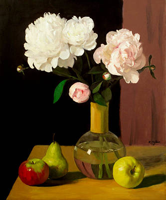 Painting - Persistence Of Peonies No.5 by Robert Holden